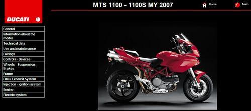 Product picture Ducati Multistrada MTS 1100 Service Repair Manual 2007