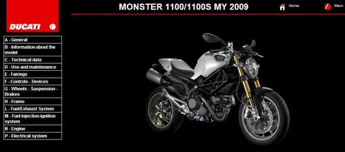 Product picture Ducati Monster 1100 Service Repair Manual 2009