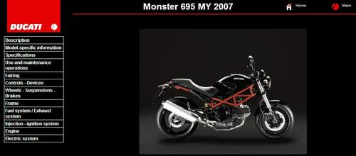 Product picture Ducati Monster 695 Service Repair Manual 2007